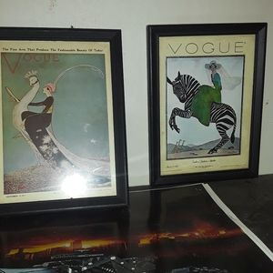 Two vogue magazine cover postcards [originals]